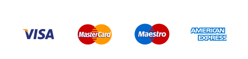Accepted payment methods card logos